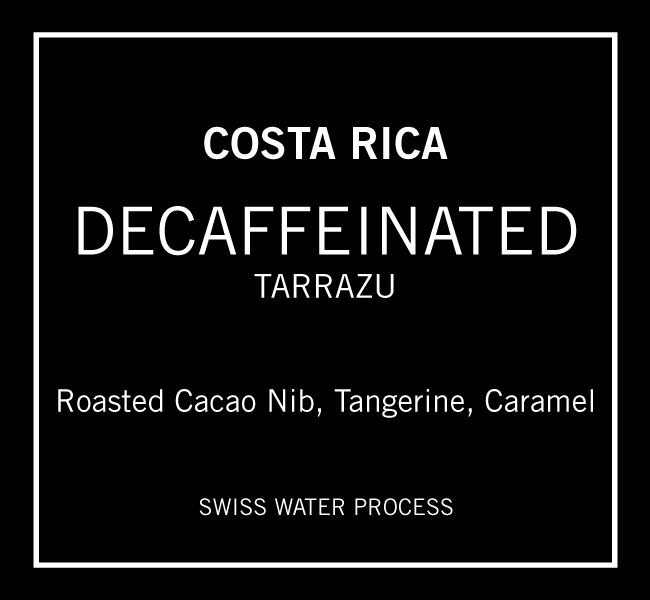Decaffeinated Costa Rica Tarrazu