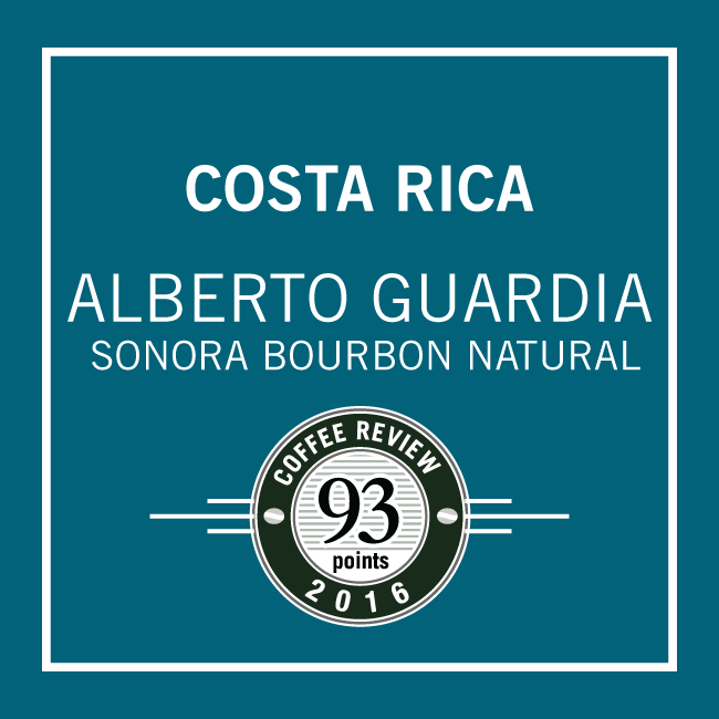 Costa Rica Alberto Guardia Bourbon Natural