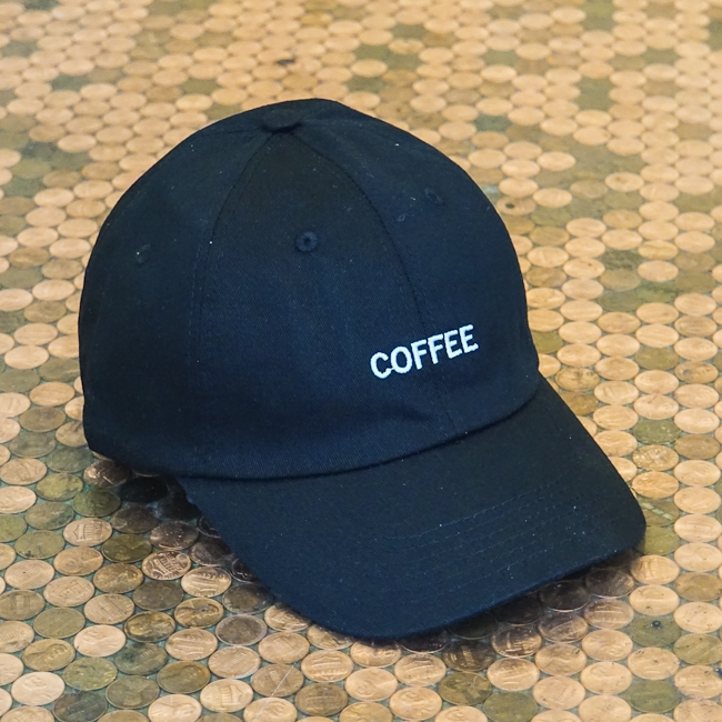 Curved Bill Coffee Hat Black