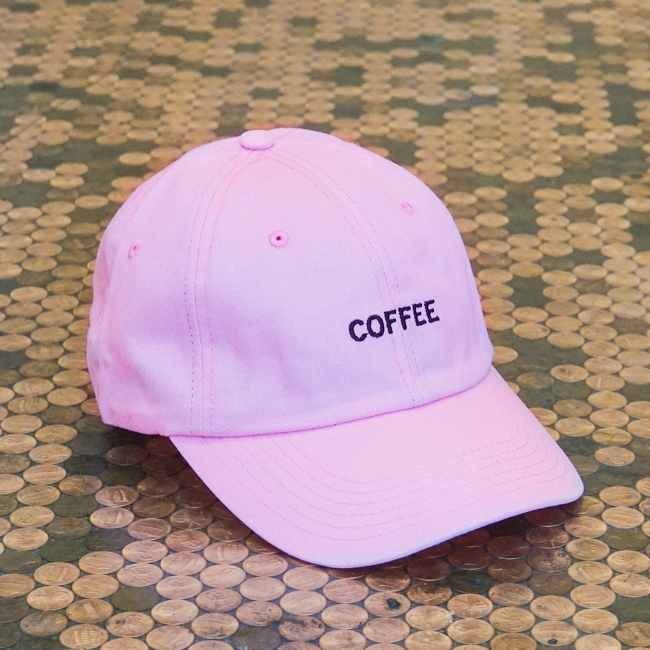 Curved Bill Coffee Hat Pink