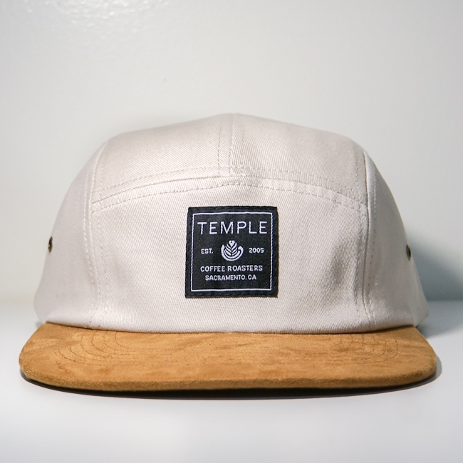 Temple Cream/Suede Five-Panel Hat