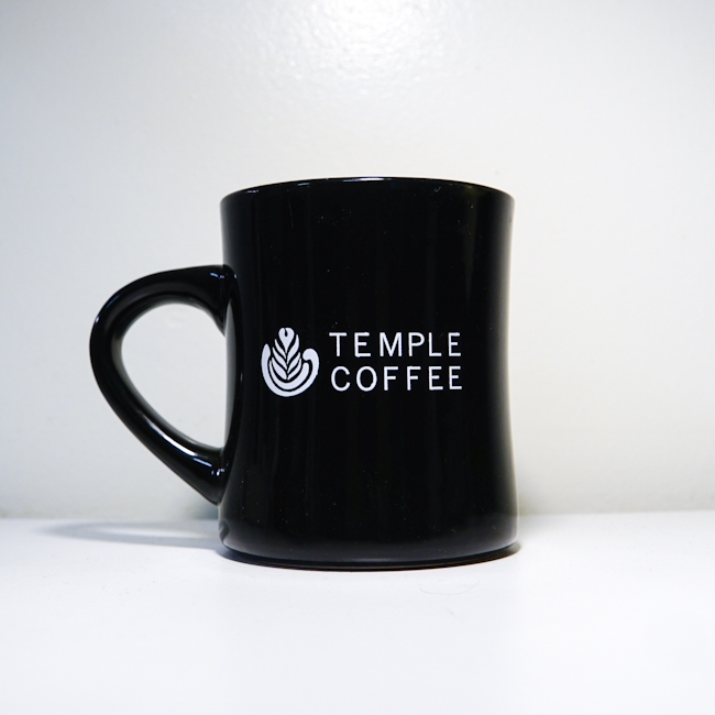 Temple Coffee Mug Black